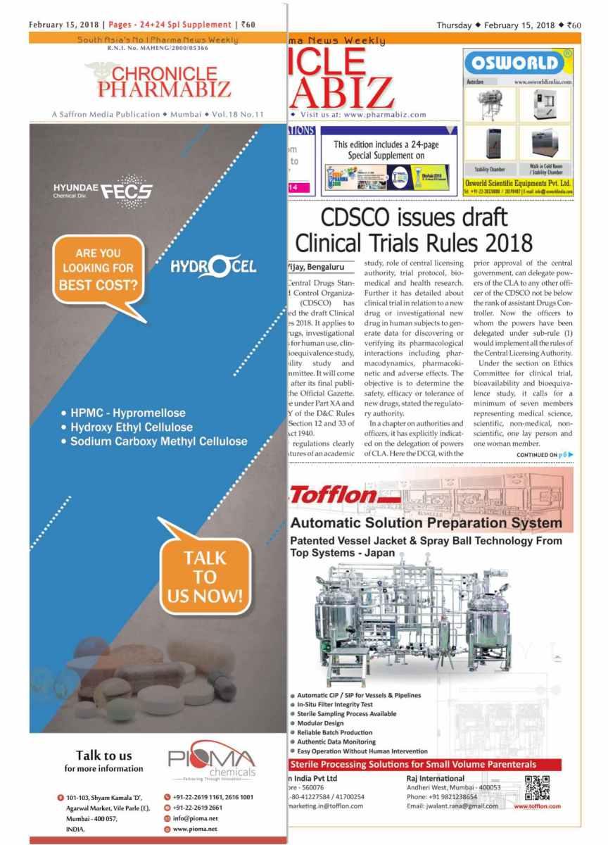 Chronicle Pharmabiz